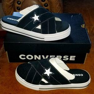 Converse womens one star suede slip sandal